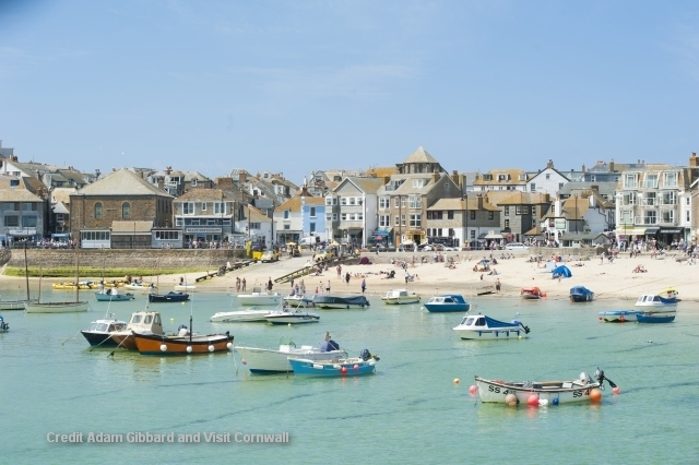 St Ives - visted by many artists attracted by its seemingly subtropical oasis