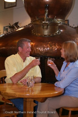 Enjoy a fascinating tour of Bushmills, the world's oldest licensed whiskey distillery
