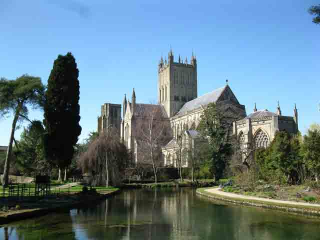 Visit Wells Cathedral, a fine example of Early Gothic architecture set in a medieval city