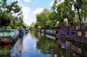 Boat to Camden  Cruise on a narrow boat  along the historic Regents Canal. There is not much to say along the way, so not to spoil the peace and quiet