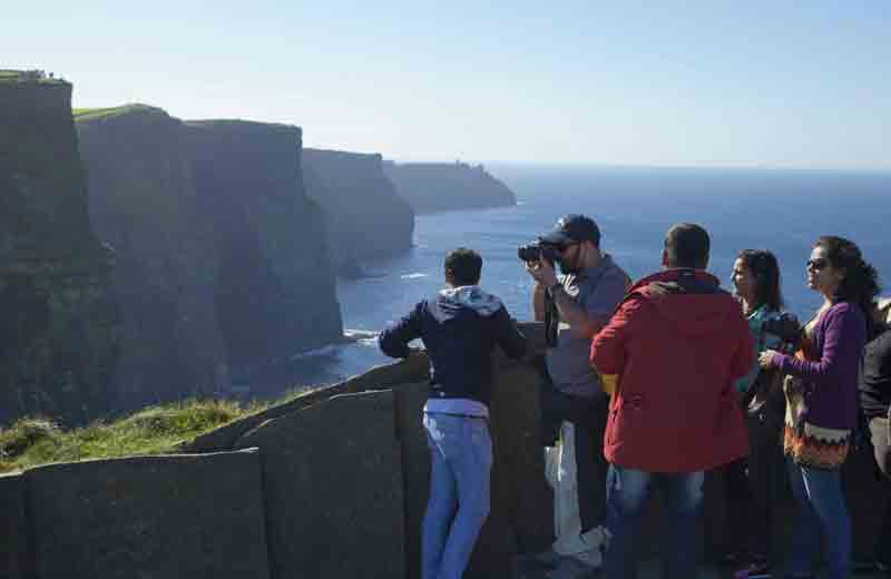 Witness the stunning <b>Cliffs of Moher</b> and scenic area of the <b>Burren</b>