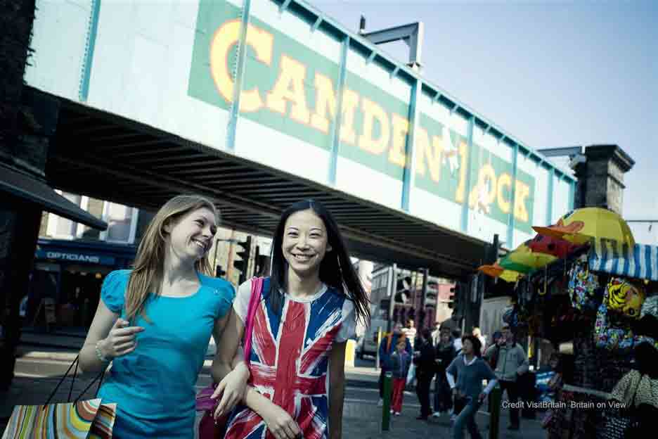 Camden Market Where over 200 shops and stalls jostle for space in the narrow alleyways